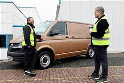 VAN DRIVERS NOT SO KEEN ON A BREW