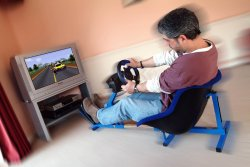 f1 driving in your sitting room - the game frame