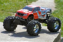 radio control car test - hpi savage monster truck