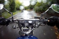 motorbikes - stay safe in the wet